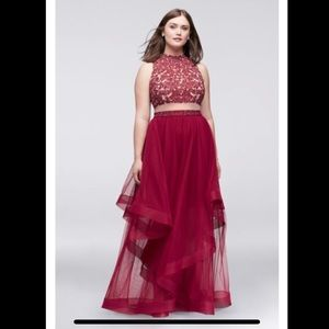 City Triangles Prom Dress Two Piece (Altered)